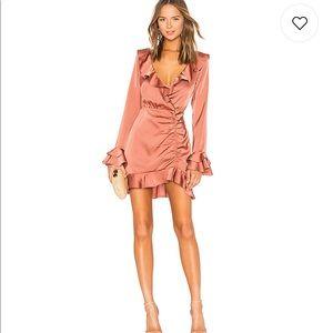 Majorelle Nelly mini dress in terracotta brown